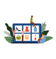 online shopping e-commerce concept with character vector image vector image