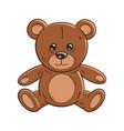 outlined a funny cartoon teddy bear toy vector image