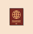 passport color flat icon vector image vector image