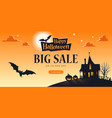 promo halloween background template big sale vector image vector image