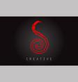 s monogram letter logo design brush paint stroke vector image vector image
