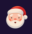 santa claus face on dark background sticker jolly vector image vector image
