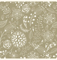 seamless summer floral pattern vector image