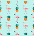seamless tropical pattern with flamingos vector image vector image
