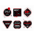 set of black banners with sale offers vector image vector image