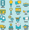 Set of internet services icons - part 1 vector image