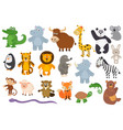 set of isolated animals vector image vector image