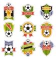 set sports soccer football badges vector image vector image