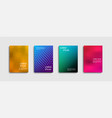 set trendy abstract covers with vector image vector image