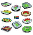 South african soccer stadiums vector | Price: 1 Credit (USD $1)