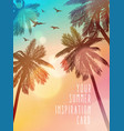 summer beach inspiration card for wedding date vector image vector image