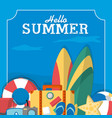 summer frame template vector image vector image