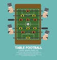 Top View of Table Football vector image vector image
