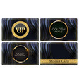 vip members luxury golden glitter card collection vector image