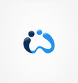 w logo vector image