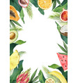 watercolor composition green tropical vector image vector image