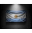 waving flag Argentina on a dark wall vector image vector image