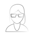 woman faceless cartoon vector image