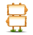 Wooden sign post icon symbol label vector image vector image