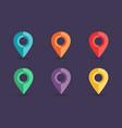 navigation pins collection vector image