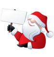 santa claus holding a banner vector image
