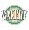 Bakery Label design vector image