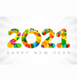 2021 yellow colouerd bubbles vector image vector image