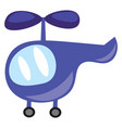 a blue toy helicopter for the kids or color vector image vector image