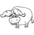 african buffalo animal character coloring book vector image vector image