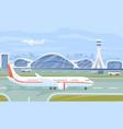 airport terminal flat vector image