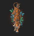 angry tiger graphic