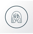 anime icon line symbol premium quality isolated vector image vector image
