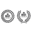 Award Laurel Wreath Best Choice Label vector image vector image