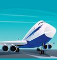big modern passenger plane on the runway vector image