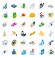 biz icons set isometric style vector image vector image