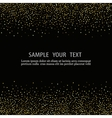 black background with gold snow vector image vector image