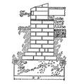 brickwork metric vintage engraving vector image vector image
