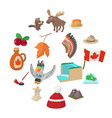 canada icons cartoon vector image vector image