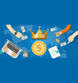 cash is king concept importance cash flow vector image