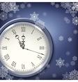 Christmas antique clocks vector image