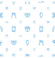 collection icons pattern seamless white background vector image vector image