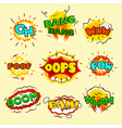 Comic Explosion Bubbles Set vector image