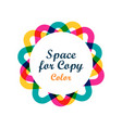 creative colorful graphic form vector image vector image
