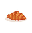 croissant bakery pastry fresh product vector image vector image