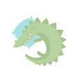 cute crocodile reptile animal sleeping on pillow vector image