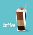 delicious coffee iced beverage vector image
