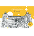 drawing sketch altar fatherland in rome vector image vector image
