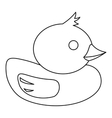 Duck icon in outline style vector image vector image
