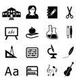 education and back to school icon set vector image