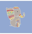 Elephant Wearing Tribal Clothing vector image vector image